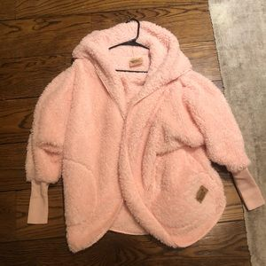 Nordic Blue Pink Oversized Jacket
